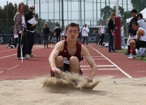 Junior Donovan Tetsuka finished eighth in the triple jump.